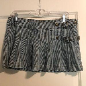 90's pinstripe pleated micro-miniskirt